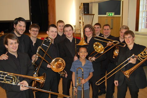 RCM Trombone Choir Joins Purcell School Trombones